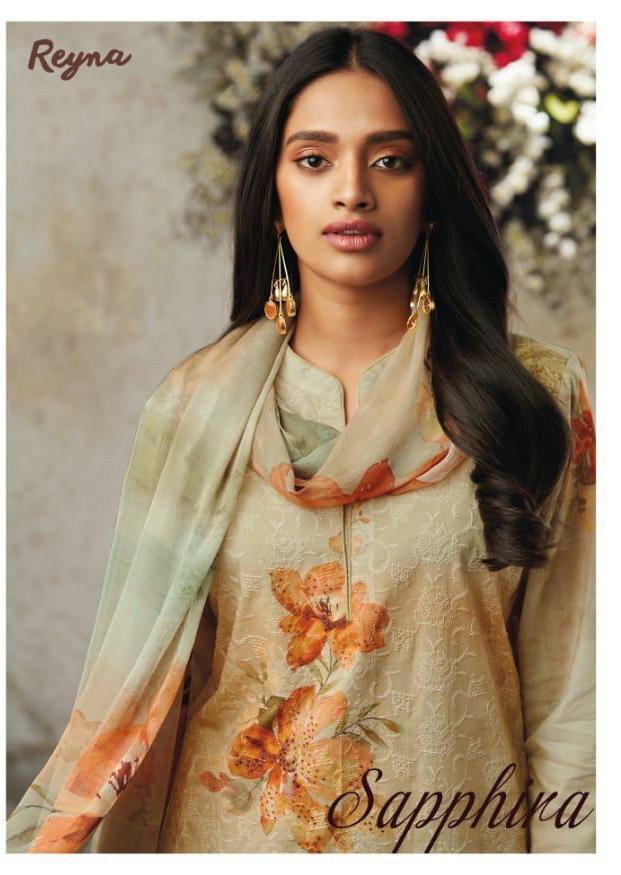 Reyna Supphire Designer Lawn Cotton Emb Suits Wholesale