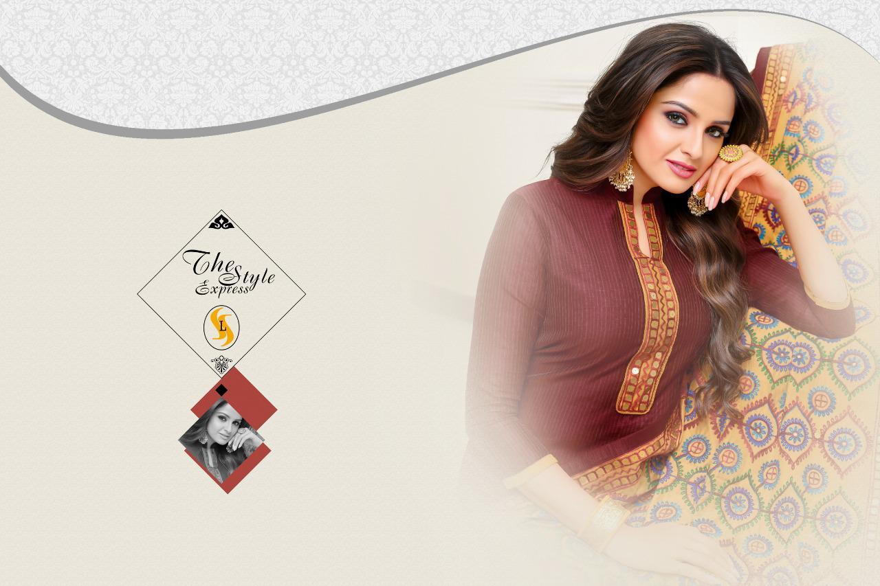 Shagun Sui Dhaga Designer Strip Silk Butti Suit Wholesale