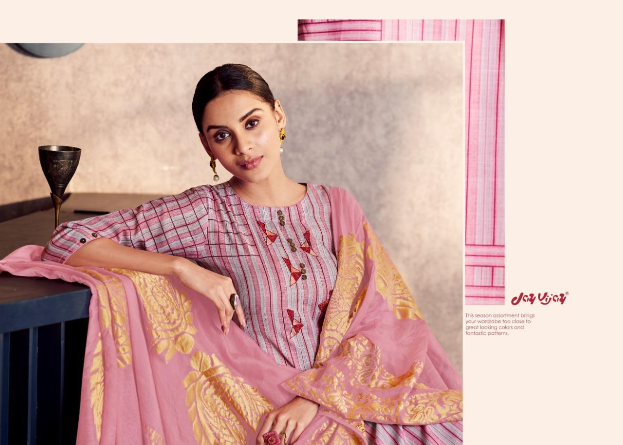 Jay Vijay Lush Designer Pure Cotton Slub Suits Wholesale