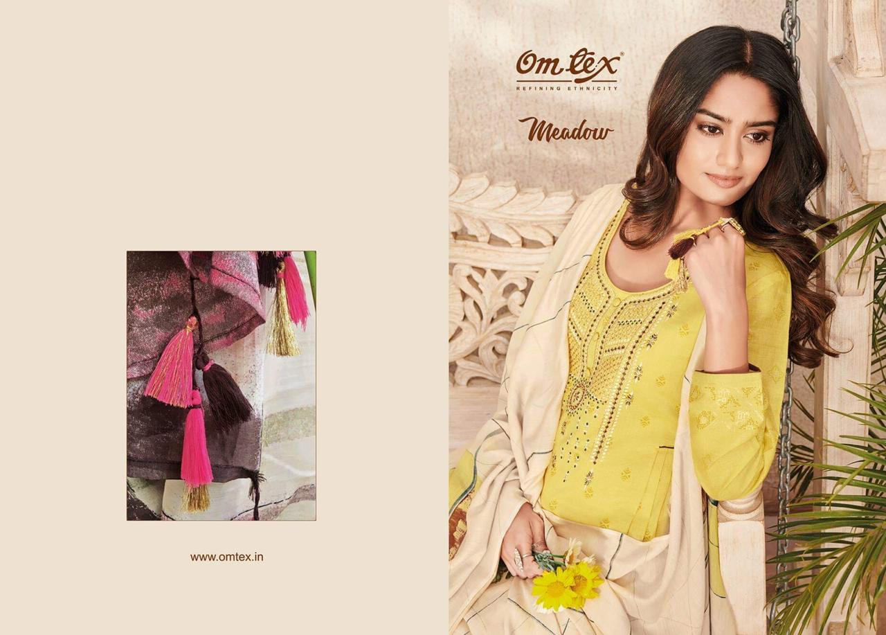 Omtex Meadow Designer Linen Printed Suits Wholeasale