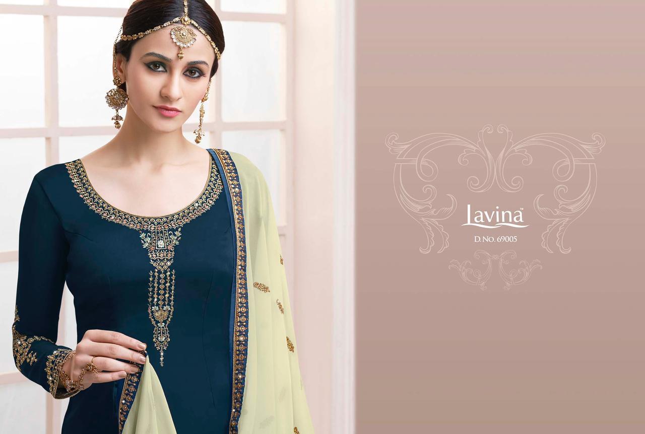 Lavina Vol 69 Designer Georgette Emb Suits Retail Wholesale