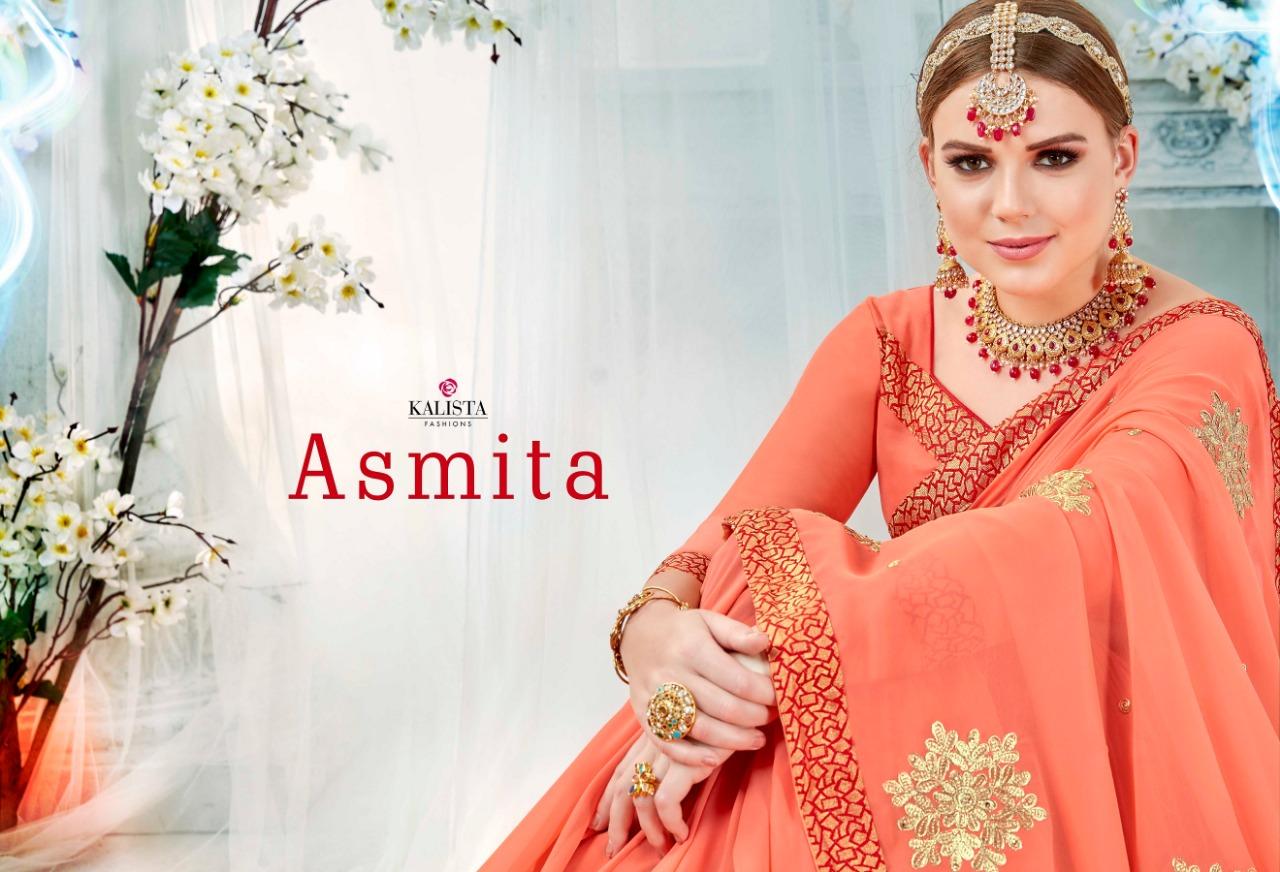 Kalista Asmita Designer Partywear Sarees Best Wholesale Rate