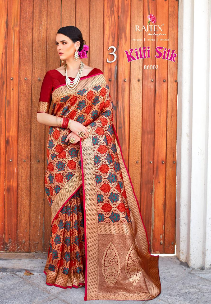 Rajtex Kilfi Silk Designer Partywear Saree Best Wholesale R