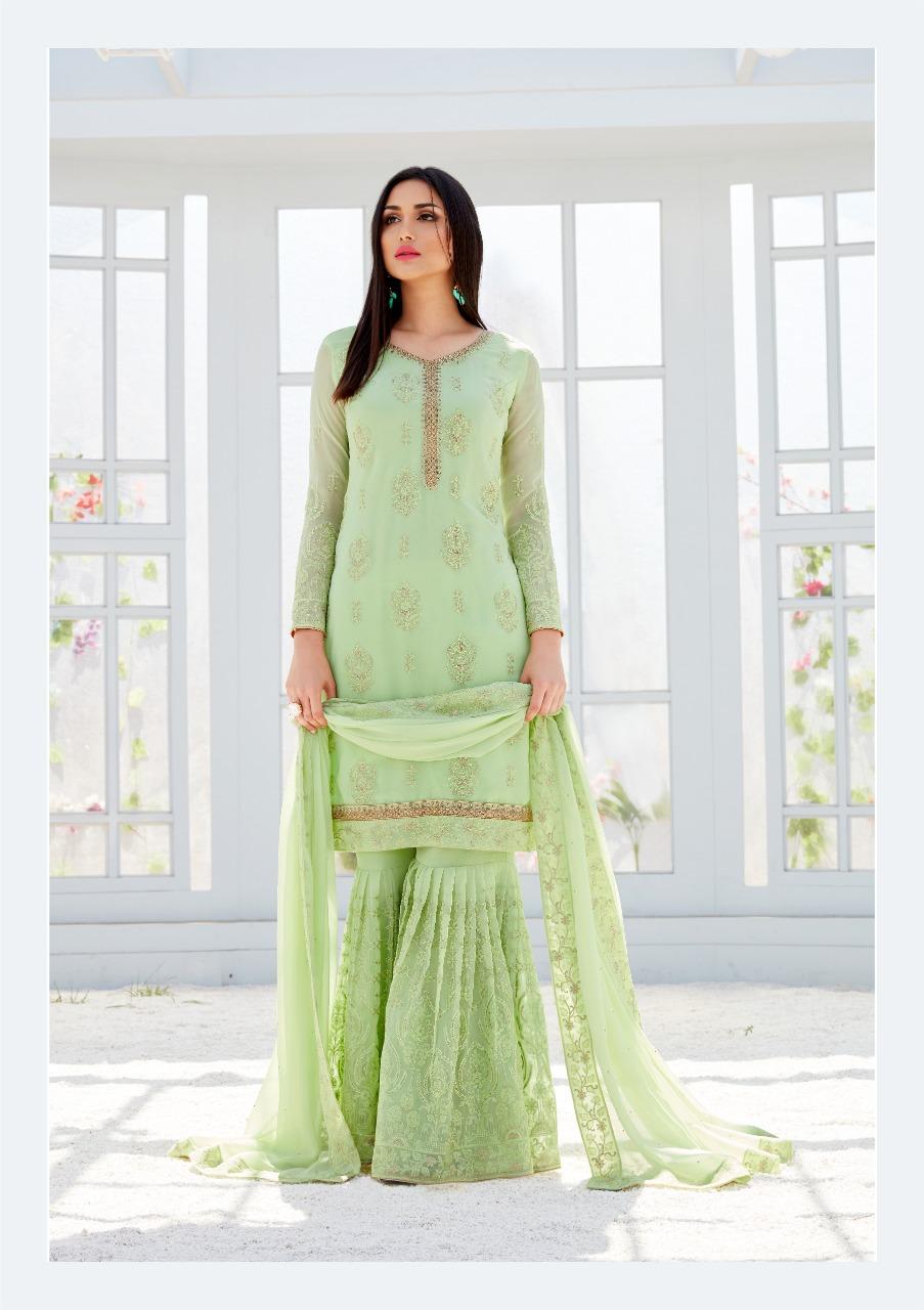 Bela Saleha Designer Heavy Emb Work Suits Wholesale