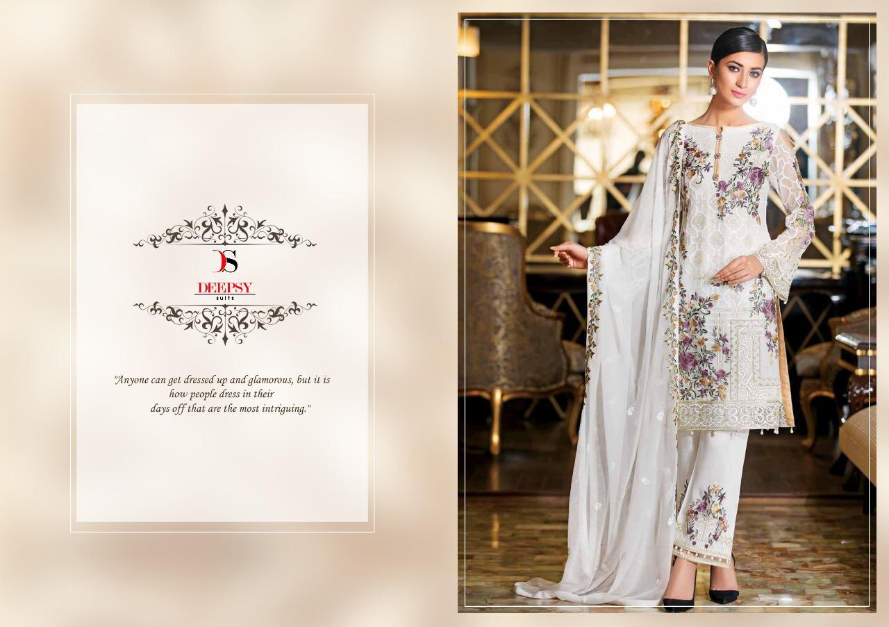 Deepsy Ramsha Designer Partywear Pettern Suits Wholesale