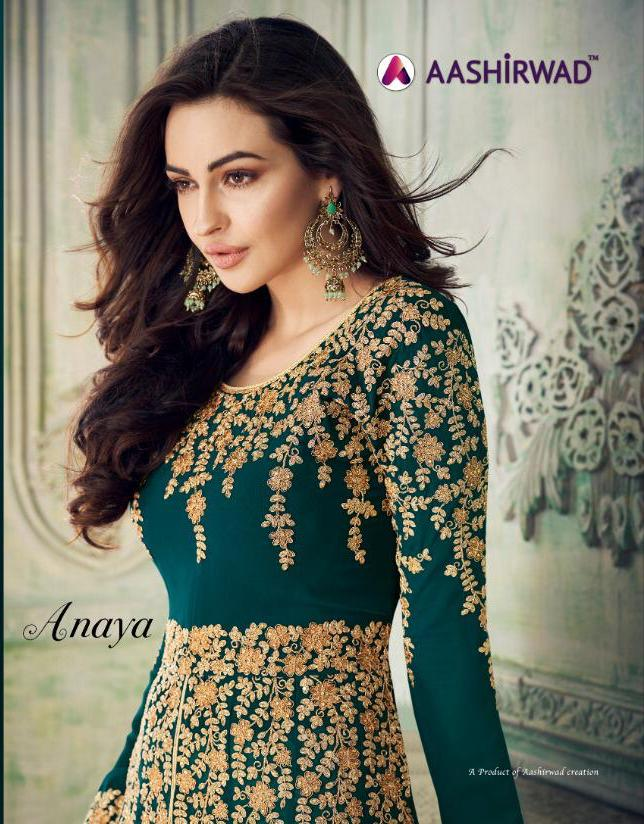 Aashirwad Anaya Designer Real Georgette Suits Wholesale