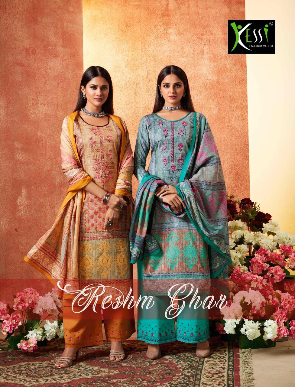 Kessi Fabrics Reshmgar Designer Suits Best Wholesale Rate