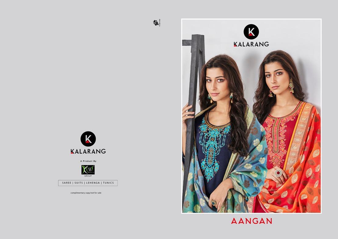 Kalarang Aangan Pure Banarasi Khatli Work Suits Wholesale