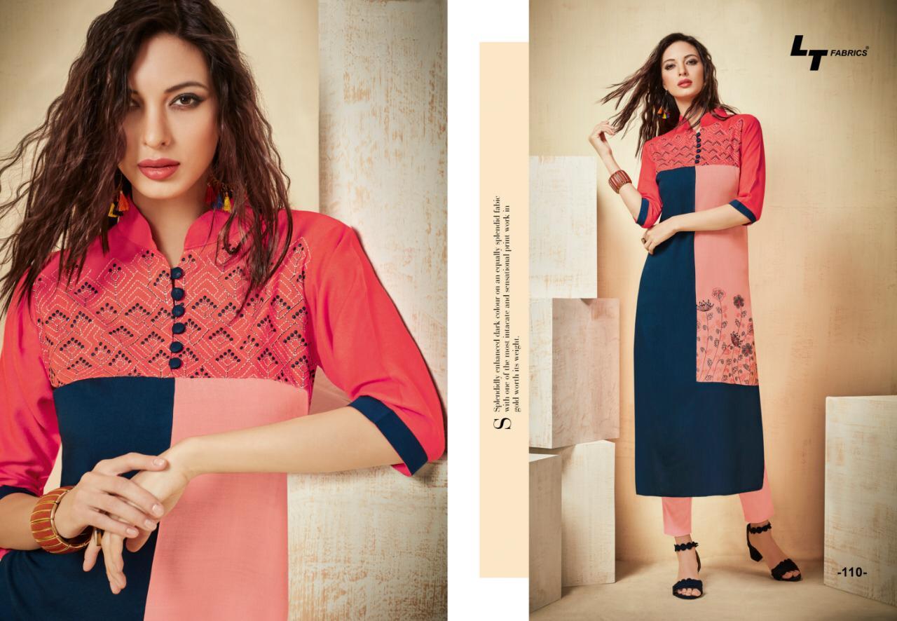 Lt Nitya Envy Designer Rayon Kurtis In Best Wholesale Rate