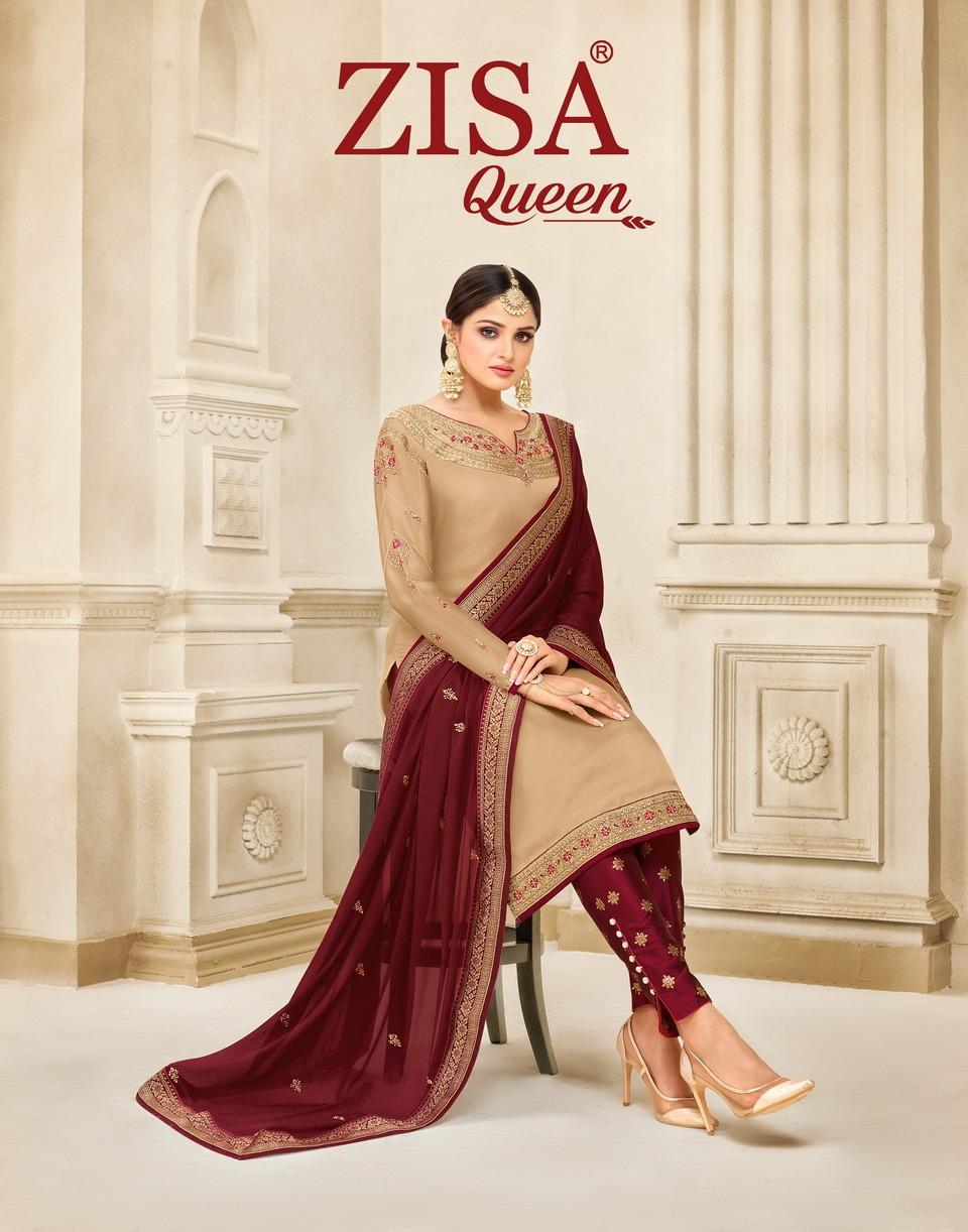 Zisa Queen Designer Georgette Wedding Wear Suits Wholesale.