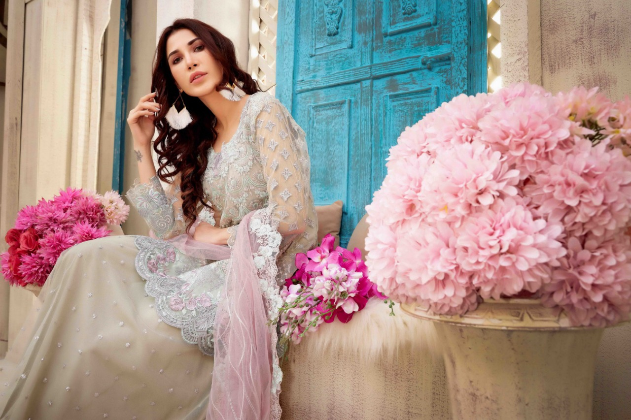 Rinaz Fashion Jazmin Vol 5 Designer Heavy Emb Suit Wholesale