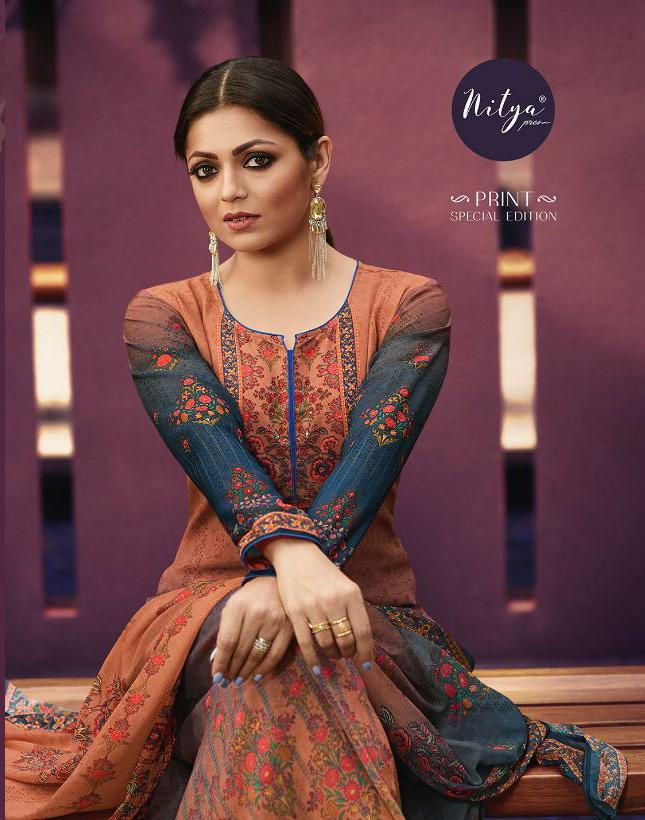 Lt Nitya Print Special Addition Wedding Wear Suits Wholesale
