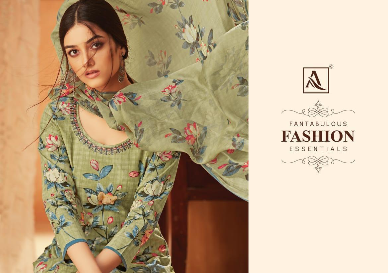 Alok Suit Krishaa Designer Cotton Designer Suit Wholesale