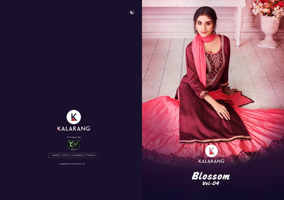 Kalarang Blossom Vol 4 Designer Silk Cotton Suit Wholesale