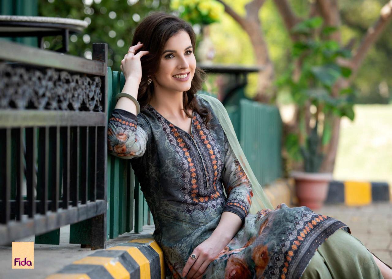 Fida Rashika Muslin With Stone Work Suit Best Wholesale Rate