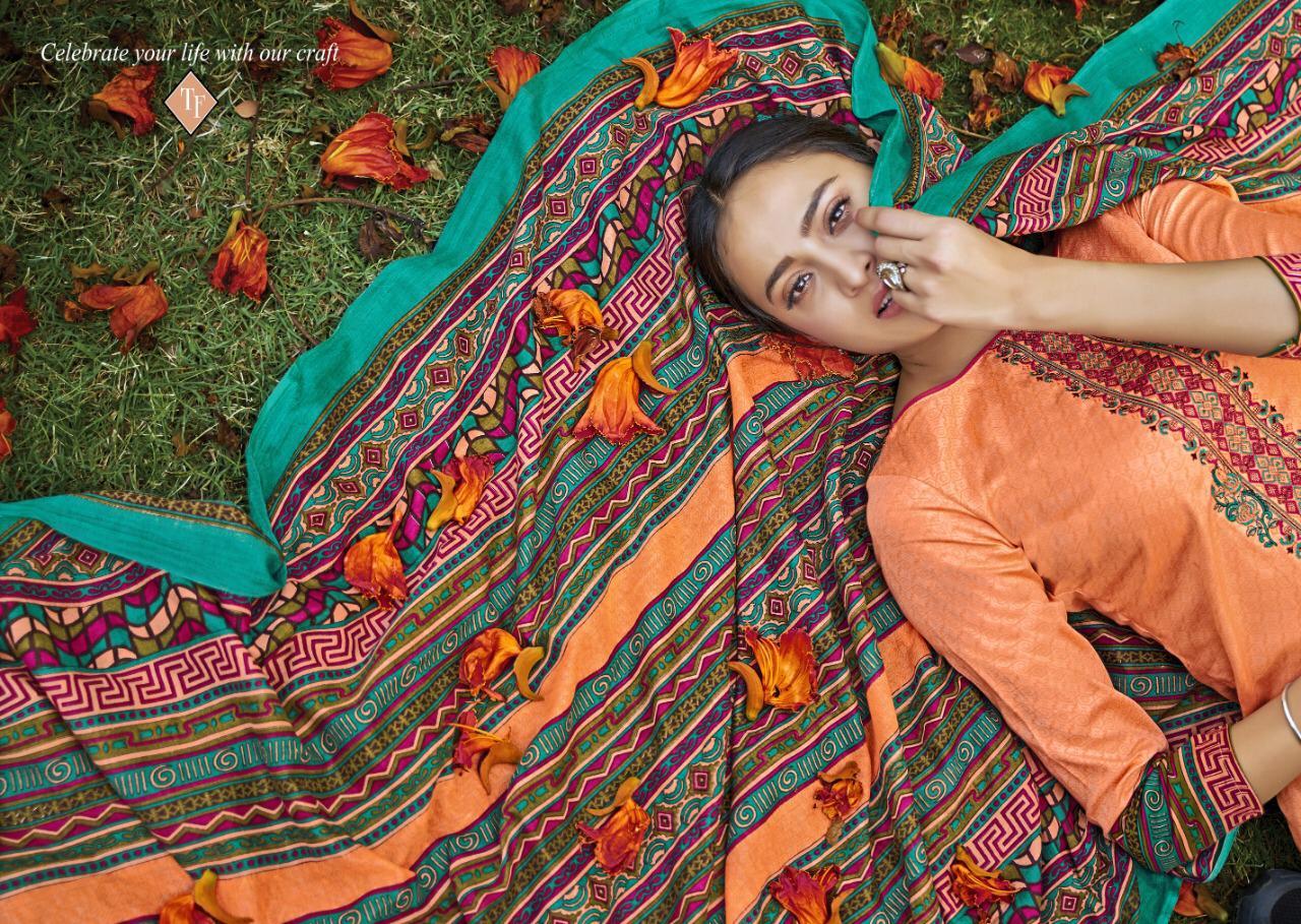 Tanishk Kashmiri Vol 5 Designer Jam Satin Suits Wholesale