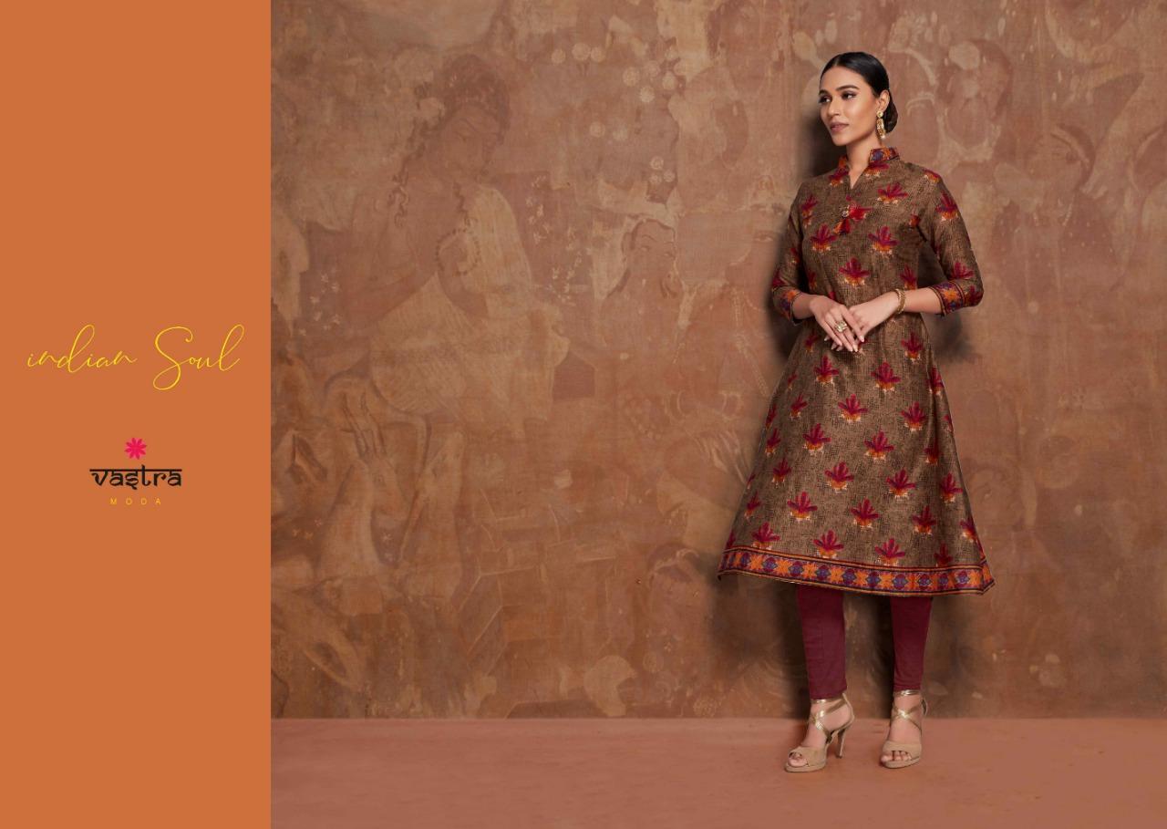 Vastra Moda Soul Vol 1 Designer Glace Cotton Kurti Wholesale