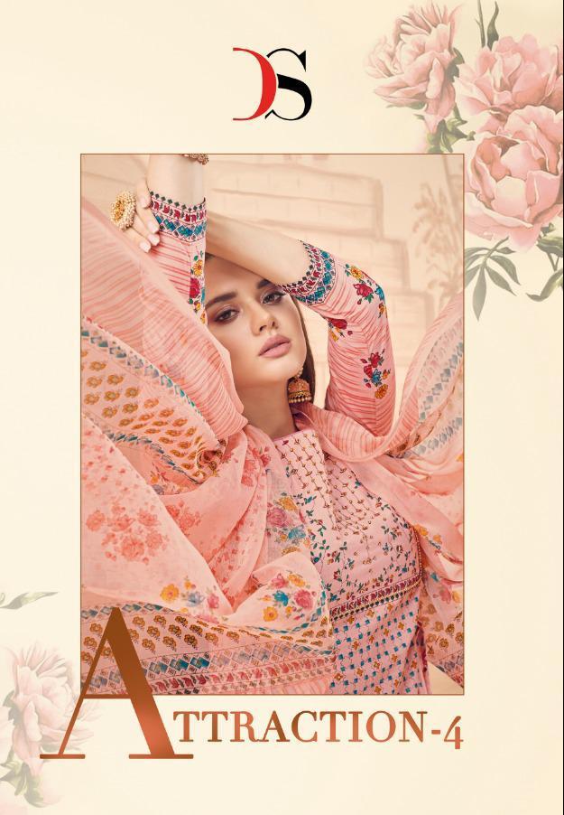 Deepsy Attraction 4 Designer Pure Cotton Suits Wholesale