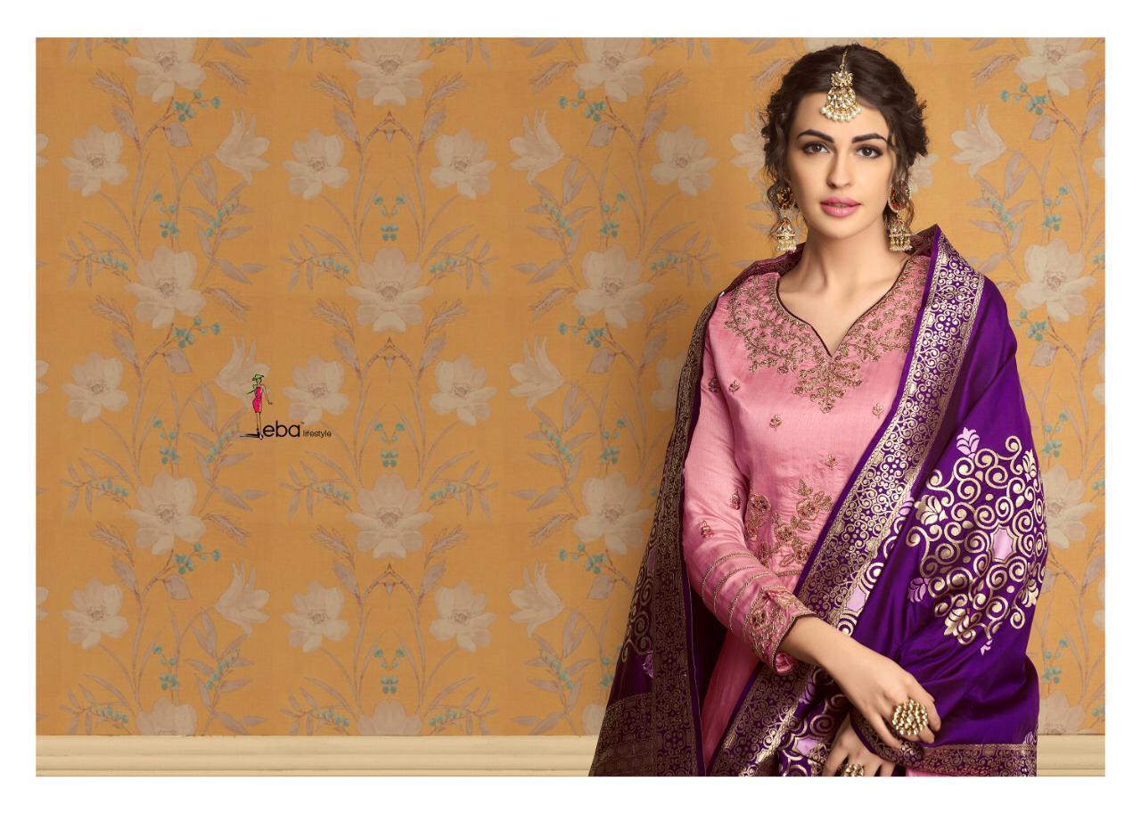 Eba Banaras Vol 1 Designer Pure Tussar Satin Gown Wholesale