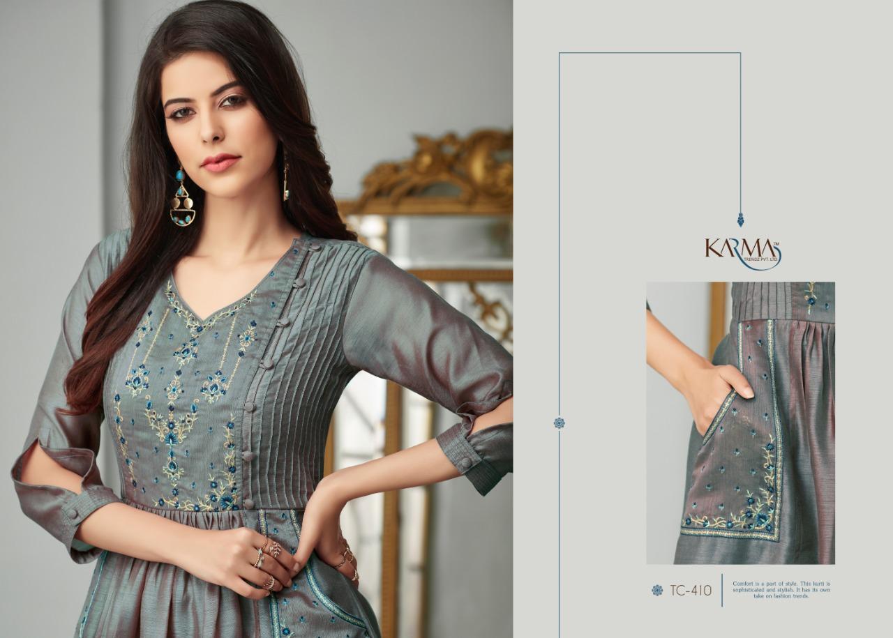 Tucute 400 Series Designer Munga Silk Kurti Wholesale