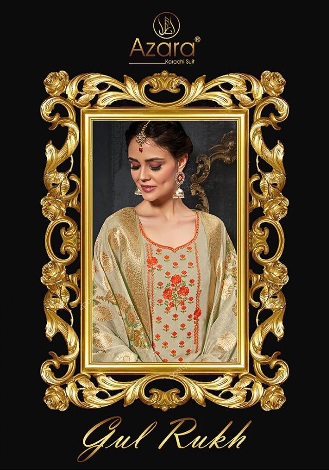 Radhika Azara Gulrukh Designer Self Emb Suits Wholesale