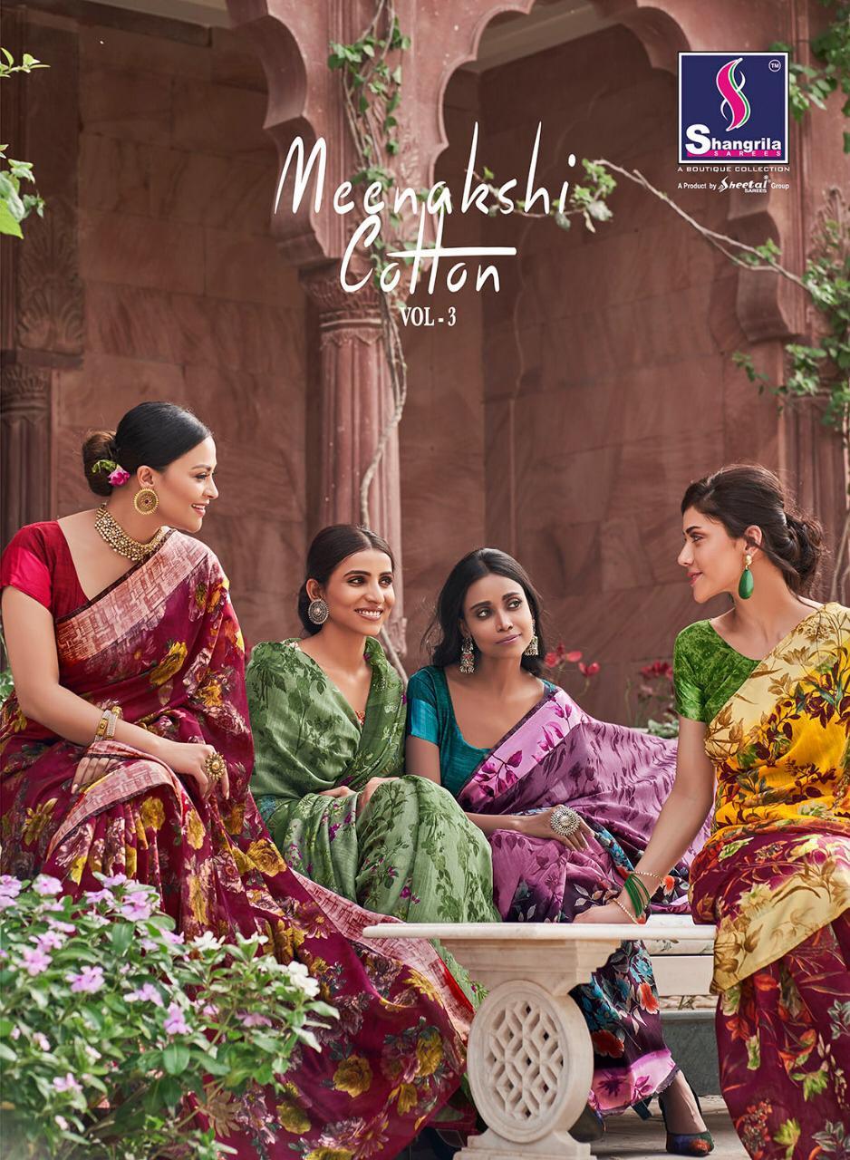 Shangrila Meenakshi Cotton Vol 3 Designer Sarees Wholesale