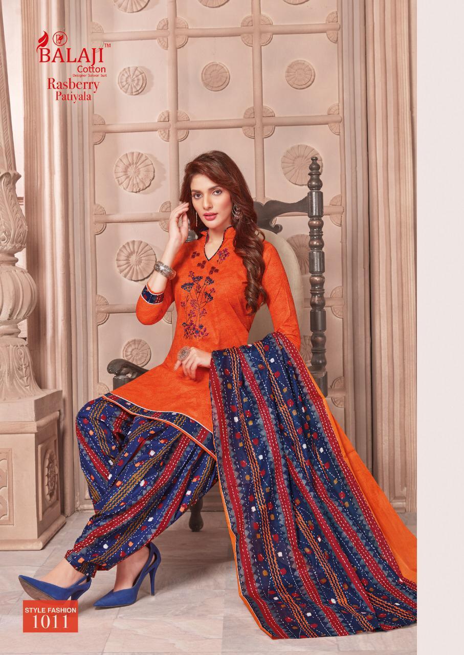 Balaji Cotton Rusberry Patiyala Designer Suits Wholesale
