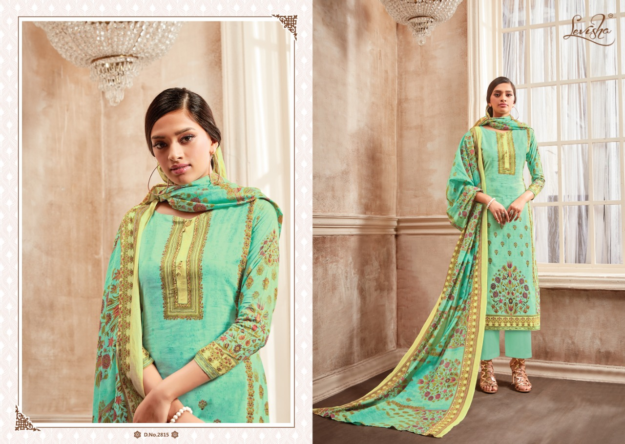 Levisha Shahin Designer Heavy Cotton Printed Suit Wholesale