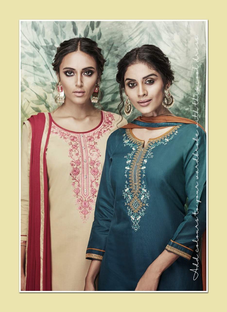 Kalarang Sunshine Vol 4 Designer Embroidary Suit Wholesale