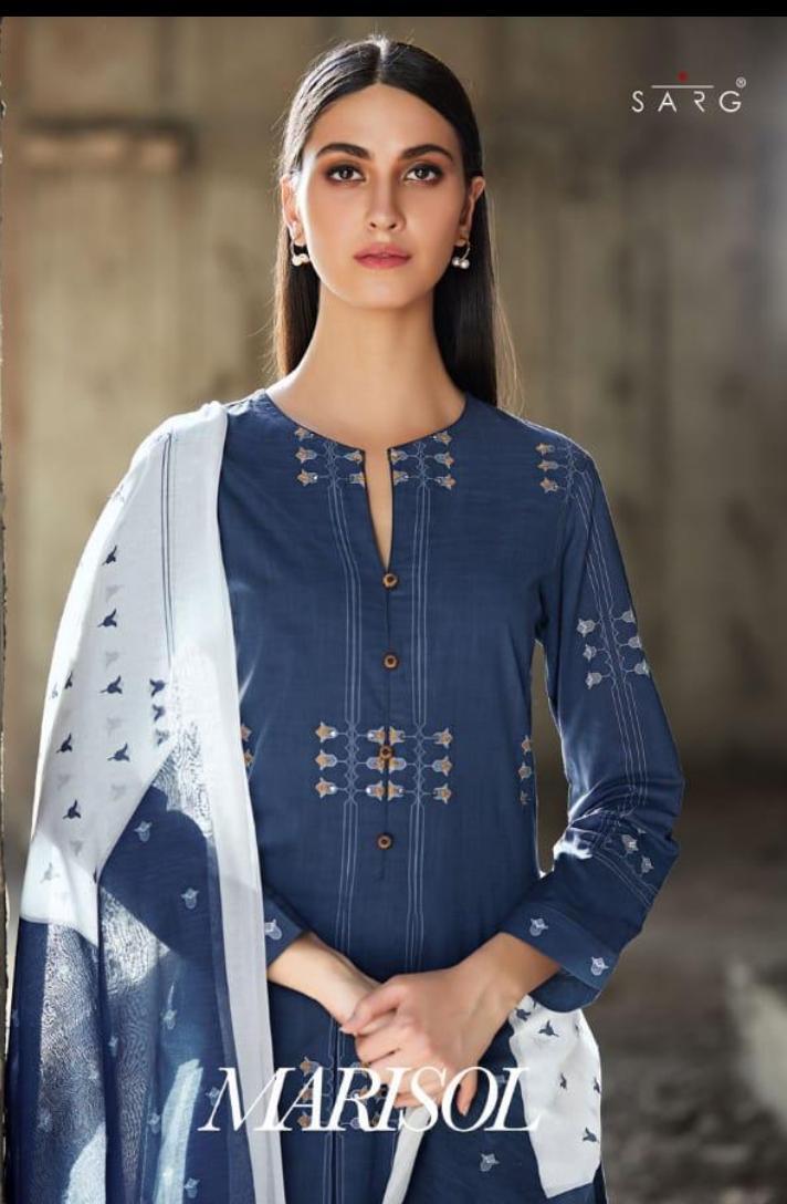 Sarg Marisol Designer Cotton Digital Printed Suits Wholesale