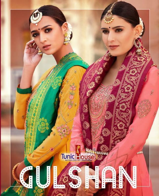 Tunic House Gulshan Designer Wedding Wear Suits Wholesale