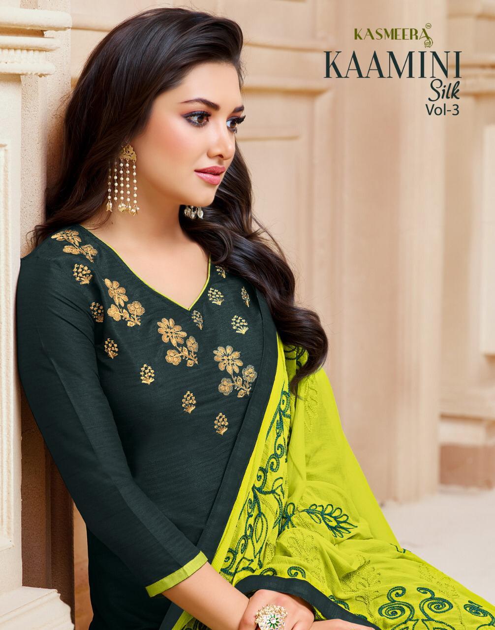 Kashmeera Kaamini Vol3 Designe Silk Jari Work Suit Wholesale