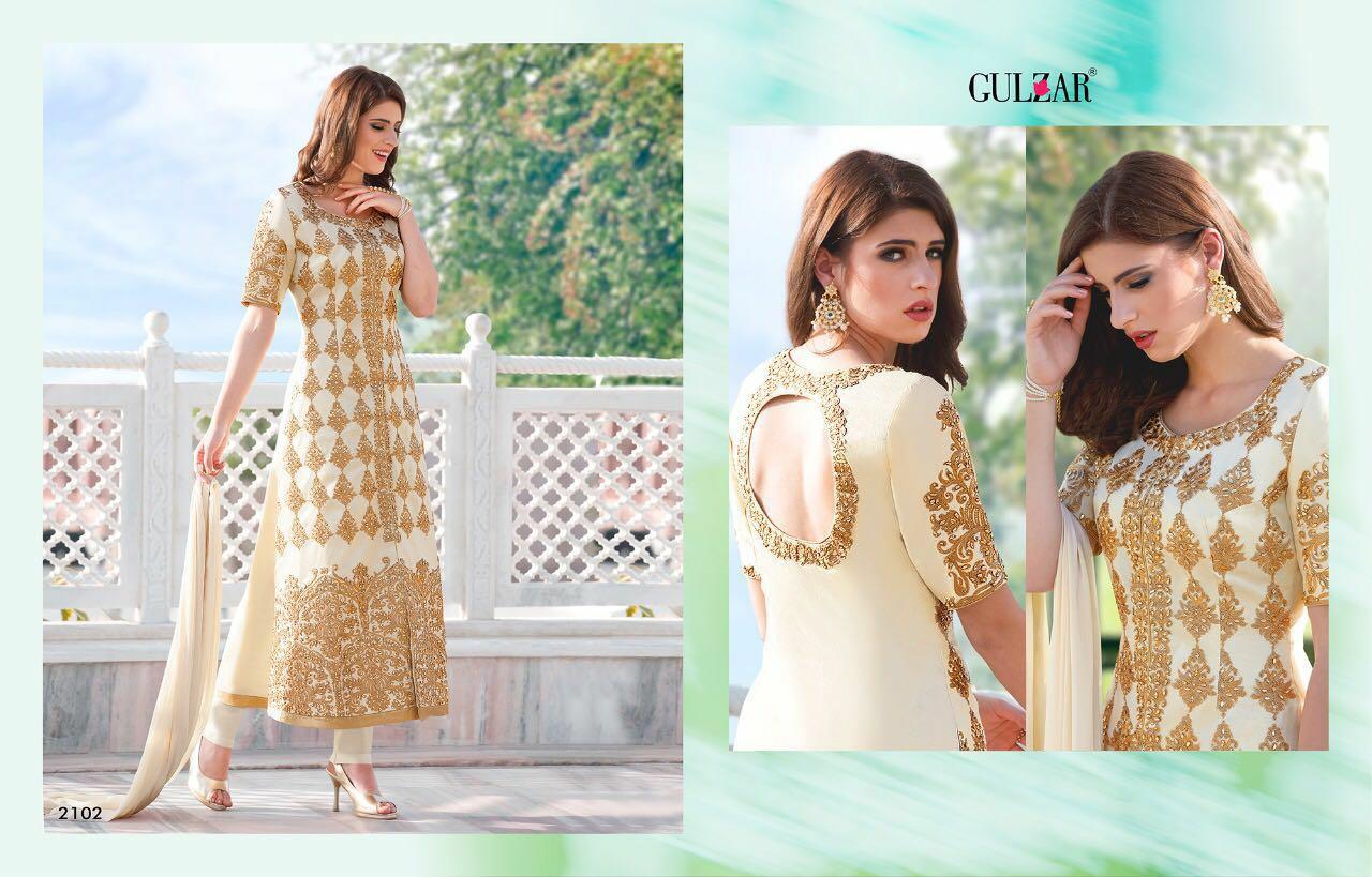 Gulzar Designer Partywear Suit In Singles
