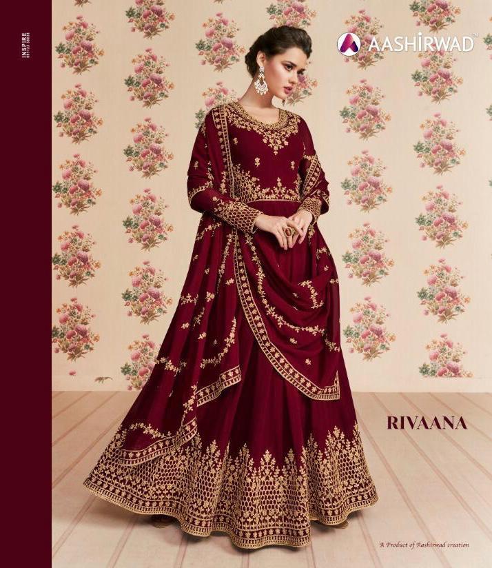 Aashirwad Rivaana Real Georgette Designer Suits Wholesale