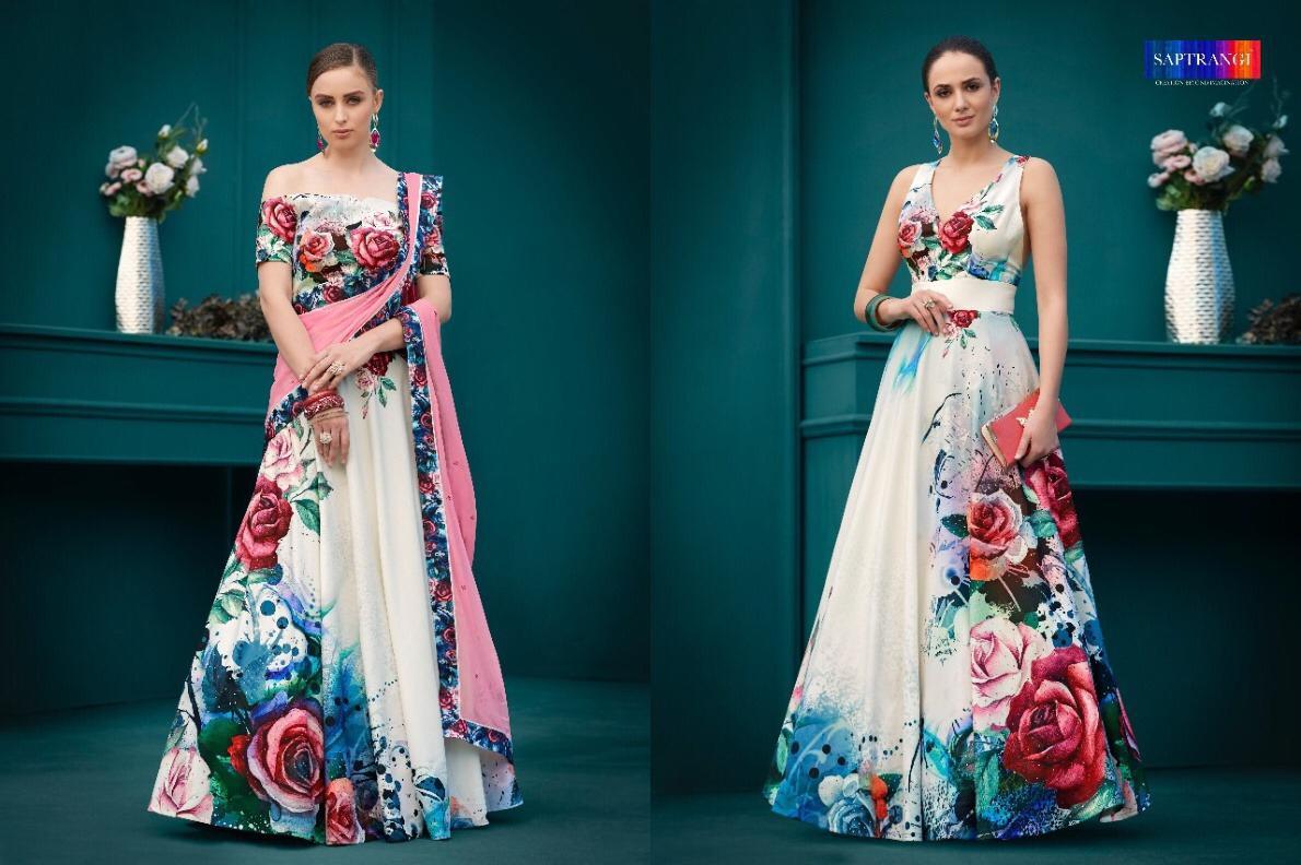 Saptrangi Designer Partywear Suits In Best Wholesale Rate