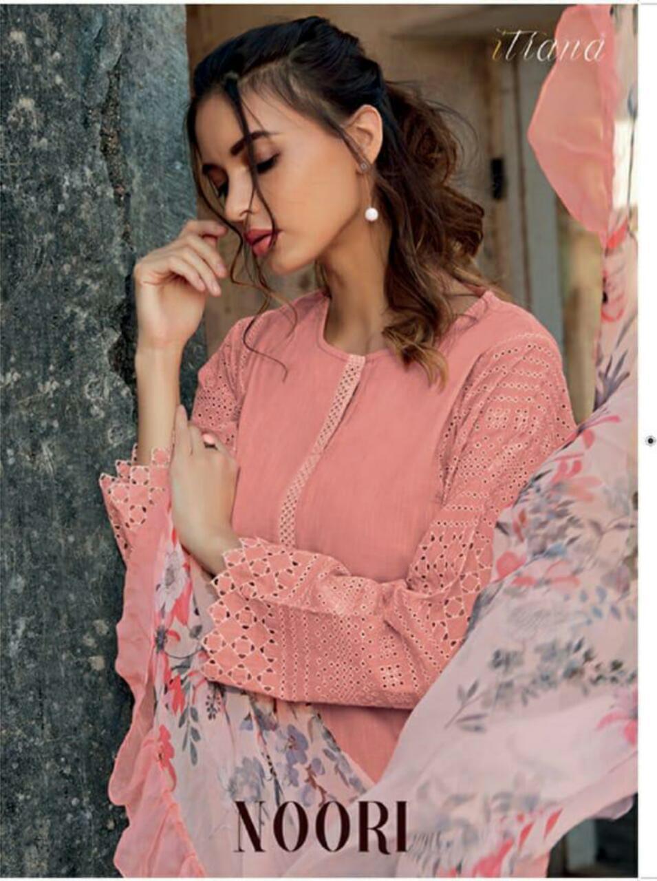 Sahiba Itrana Noori Designer Cotton Slub Suits Wholesale