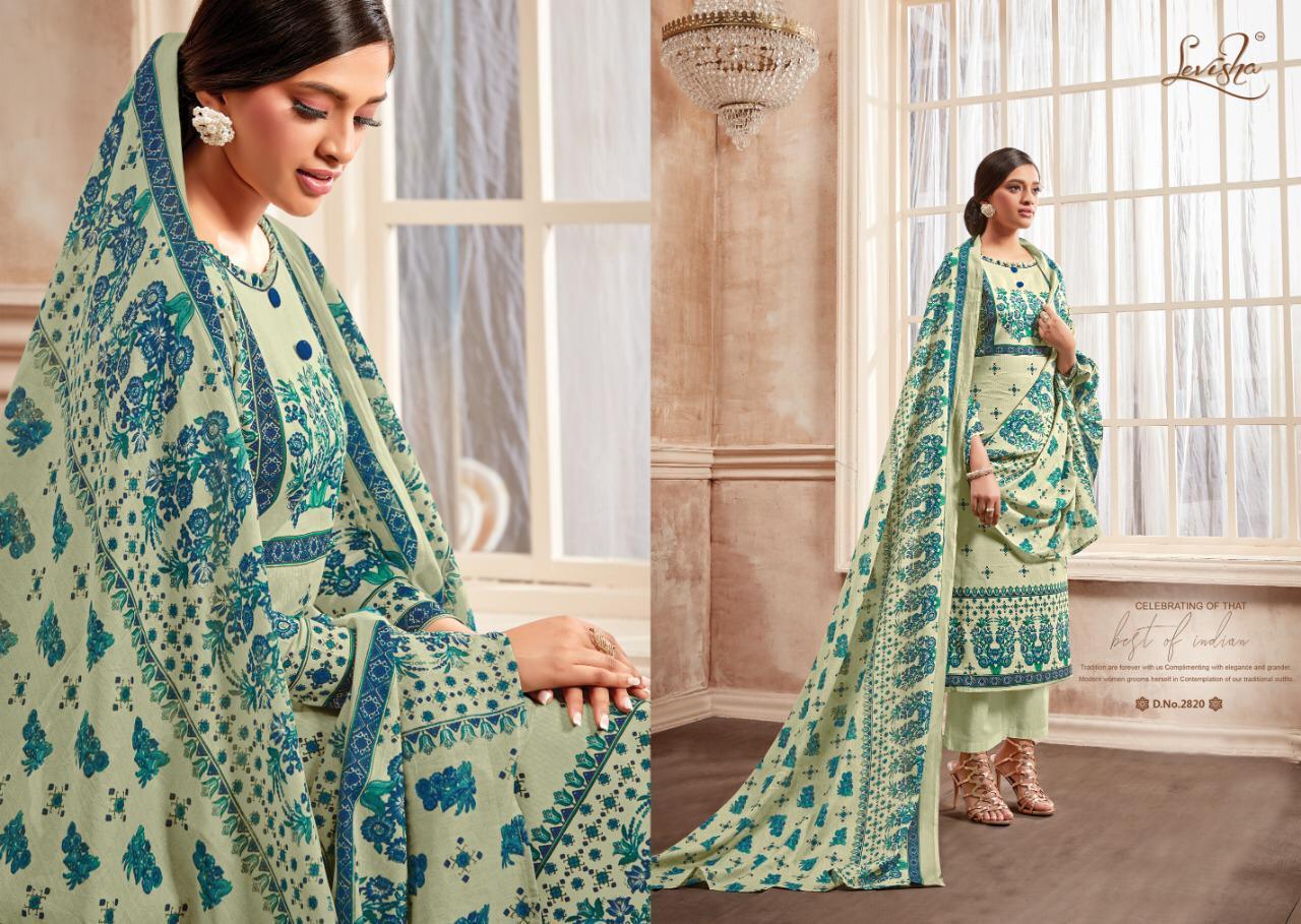 Levisha Shahin Heavy Supre Cotton Printed Suits Wholesale