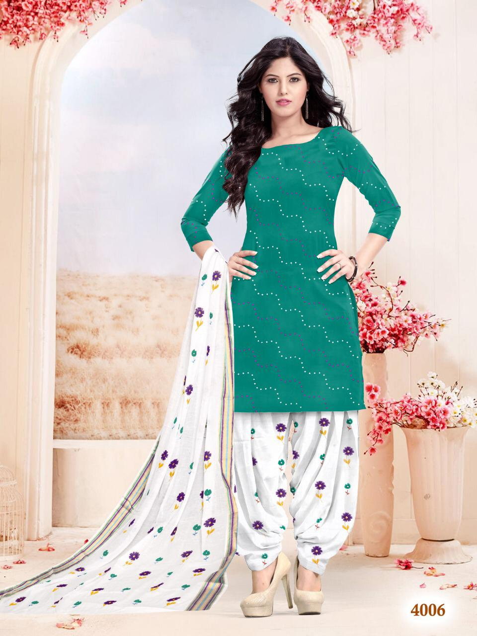 Meenakshi Rajwadi Patiala 4 Designer Sartin Suit Wholesale