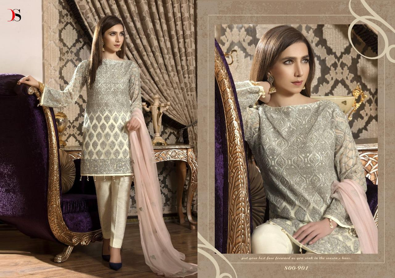 Deepsy Gulbano 11 Georgette Embrodery Suit Wholesale