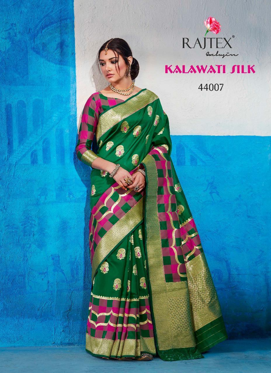 Rajtex Kalawati Collection Silk Weaving Saree In Singles