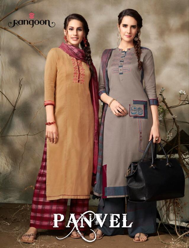 Rangoon Panvel Designer Cotton Flex Kurti Plazzo Wholesale
