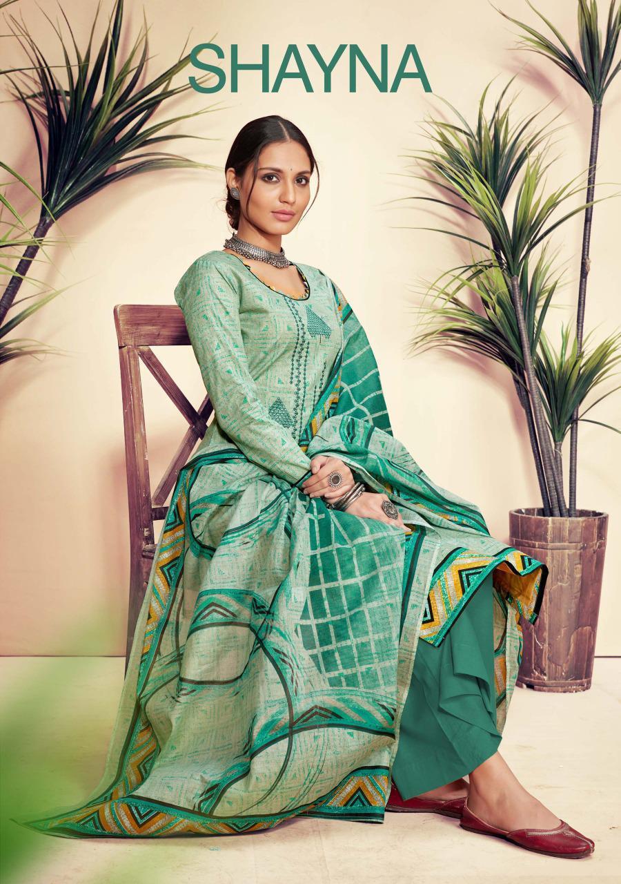 Sargam Prints Shayna  Desiner  Suits In Singles