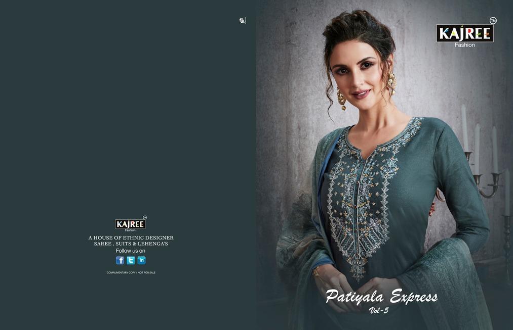 Kajree Patiyala Express Vol 5 Designer Stitch Suit Wholesale