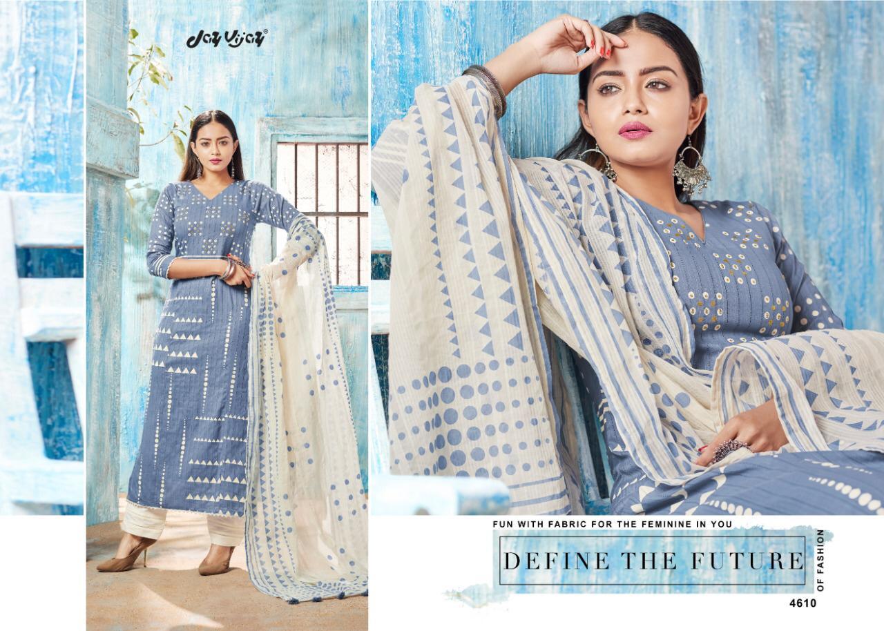 Jayvijay Intergue Vol 3 Designer Pure Cotton Suits Wholesale