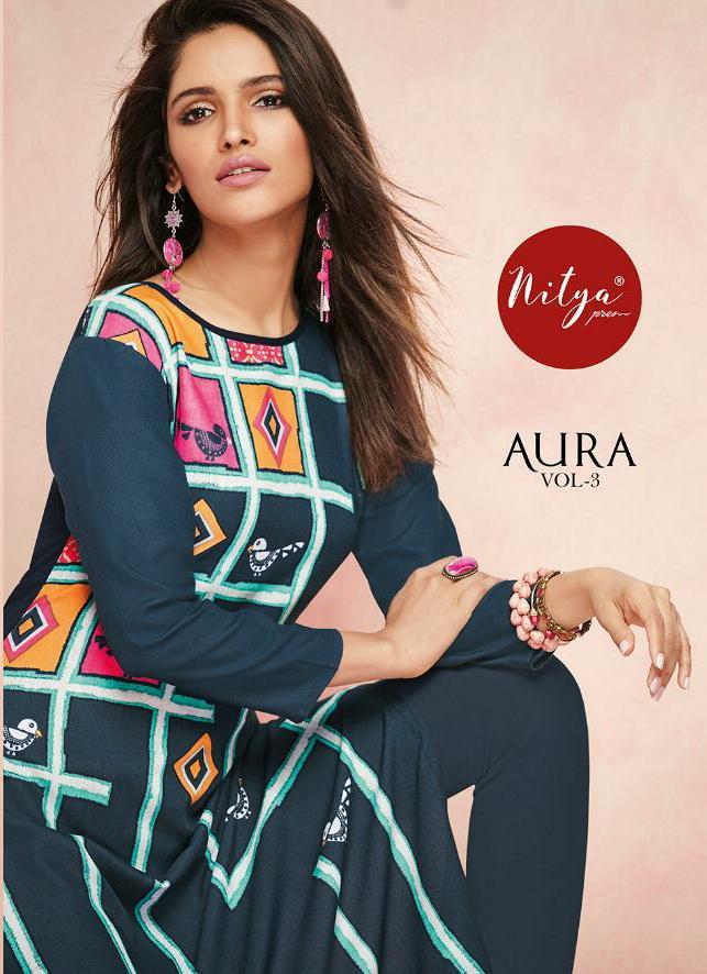 Lt Aura Vol 3 Designer Rayon Kurtis Best Wholesale Rate