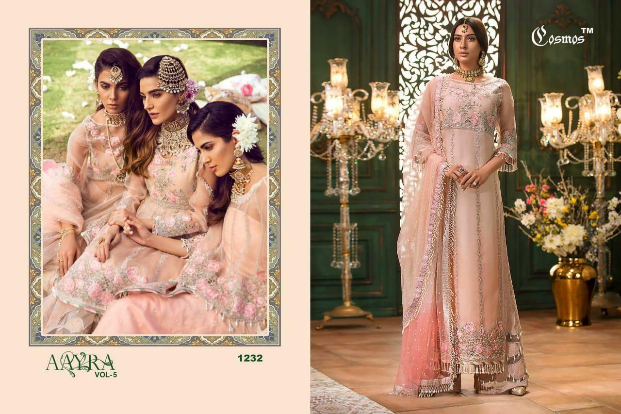 Cosmos Aarya Vol 5 Designer Partywear Suits In Singles