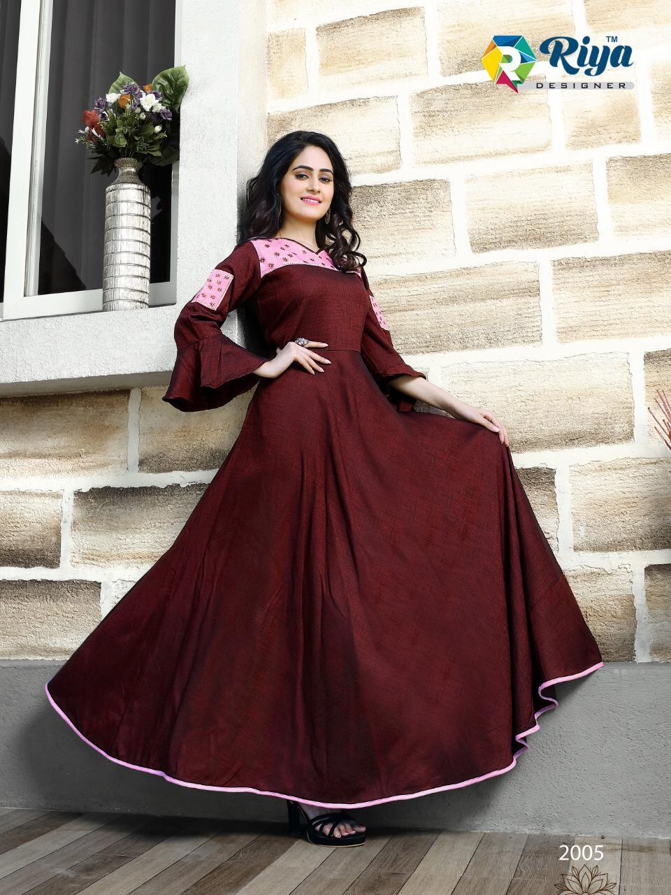 Riya Designer Alisha Vol 2 Designer Namo Slub Kurti Whoesale