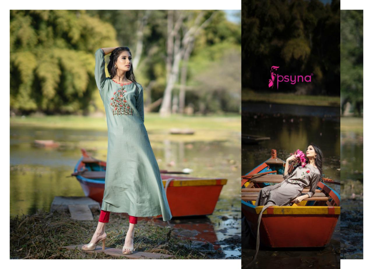Psyna Purvi Handwork Long Kurtis In Best Wholesale Rate