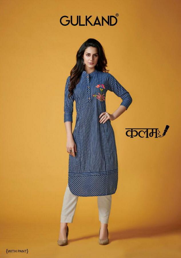Gulkand Kalam Designer South Handloom Cotton Kurti Wholesale