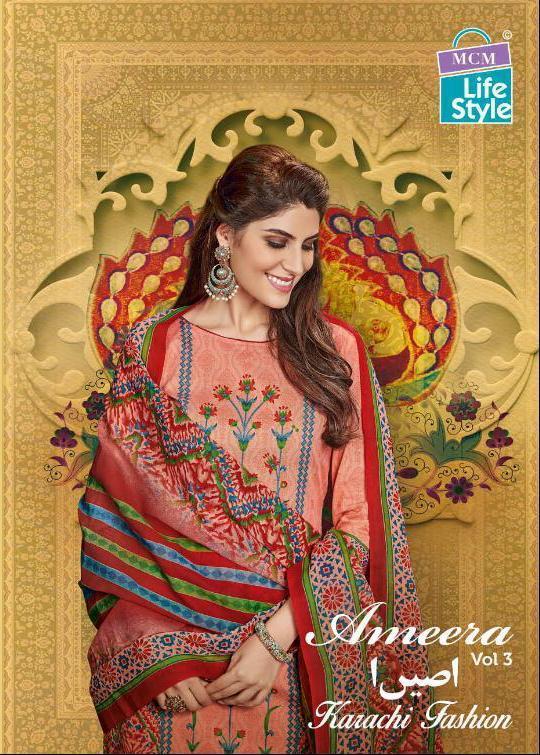 Mcm Lifestyle Ameera Vol 2 Designer Karachi Suit Wholesale